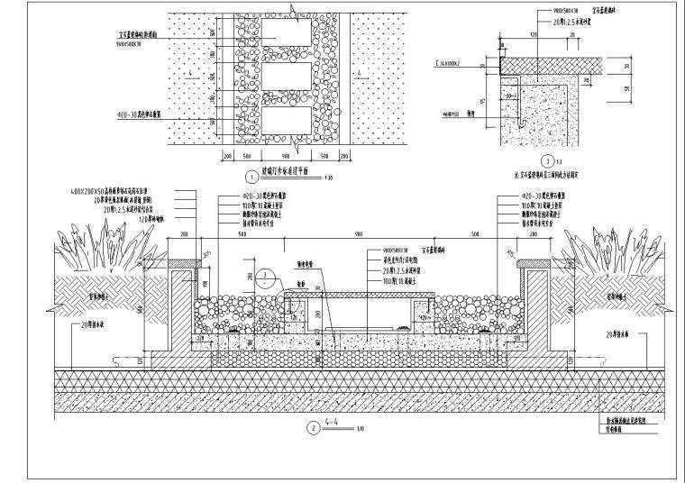 某空中花园景观工程全套施工图CAD图纸