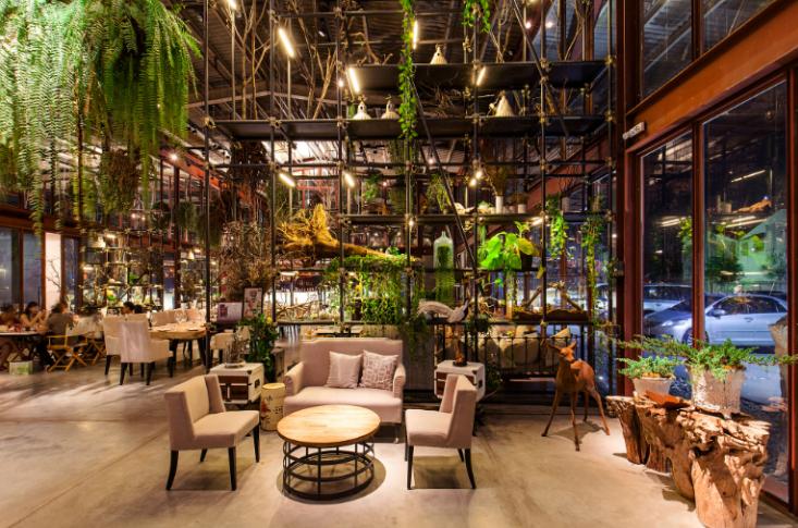 国外某动物园餐厅室内装修设计实景图(19张)
