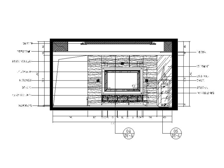 【重庆】新中式样板间设计CAD施工图(含效果图)_2