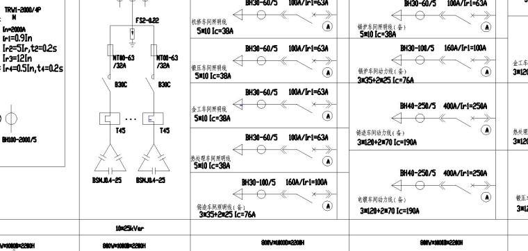 某10kv变电所低压电气系统图