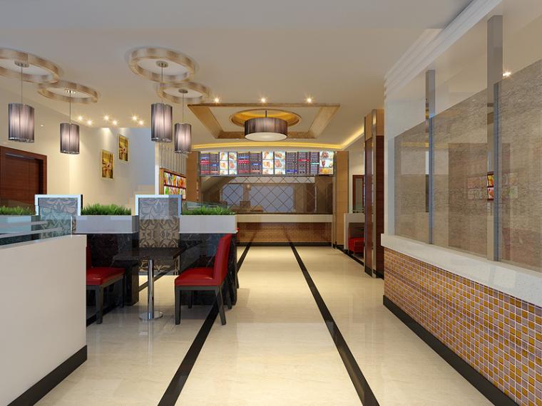 现代快餐店3D模型下载