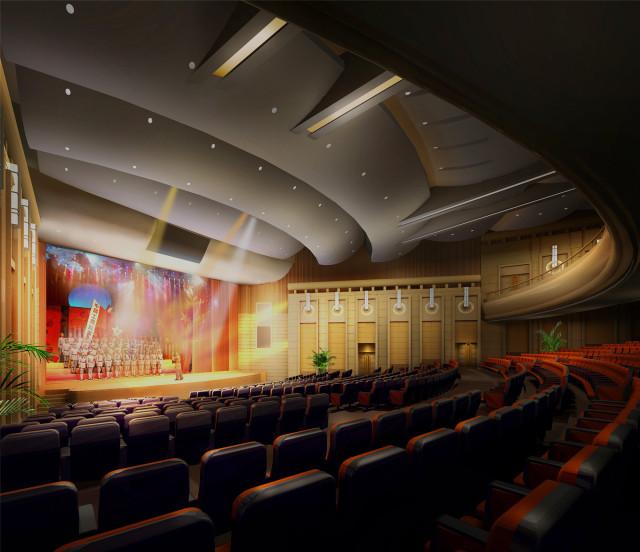 观众厅角度六-钢花影剧院设计方案第3张图片