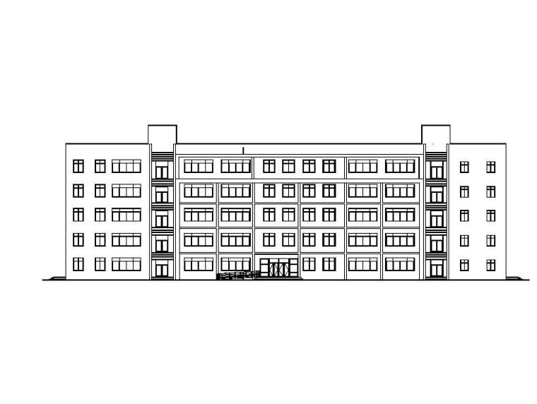 [河南]五层框架结构中学实训楼建筑施工图