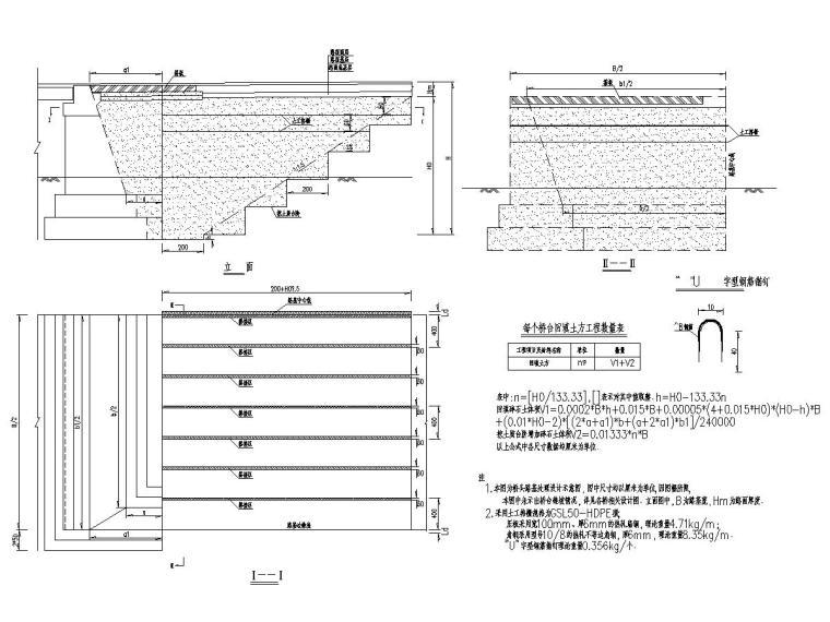 双车道二级公路路基路面工程施工图设计457张(挡土墙,桩板墙)