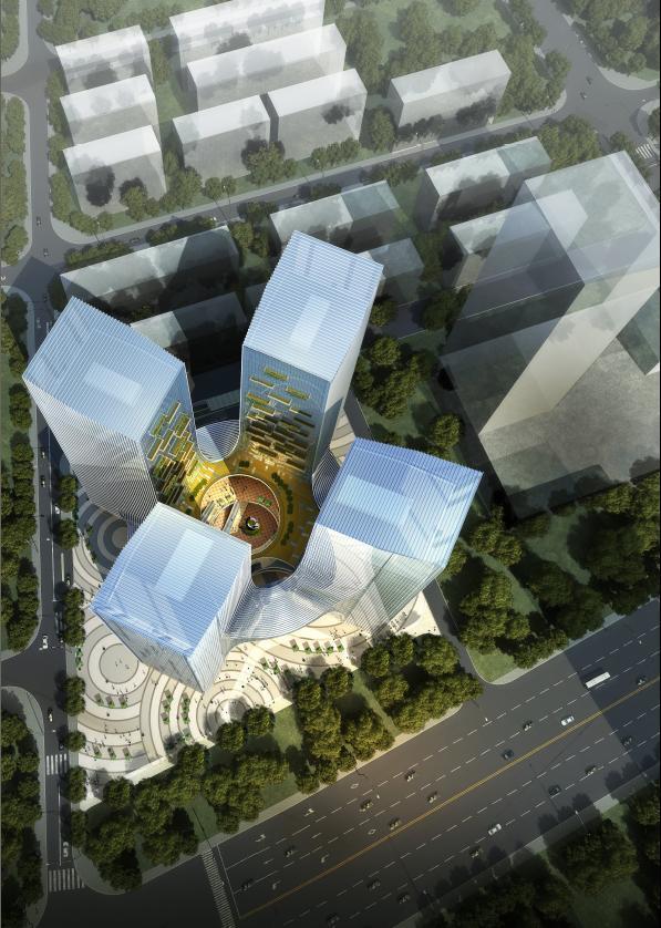 [江西]高层钻石切割造型办公楼建筑设计方案文本