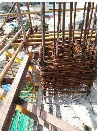悬挑式工字钢在阳角柱里面锚固长度不足怎么办