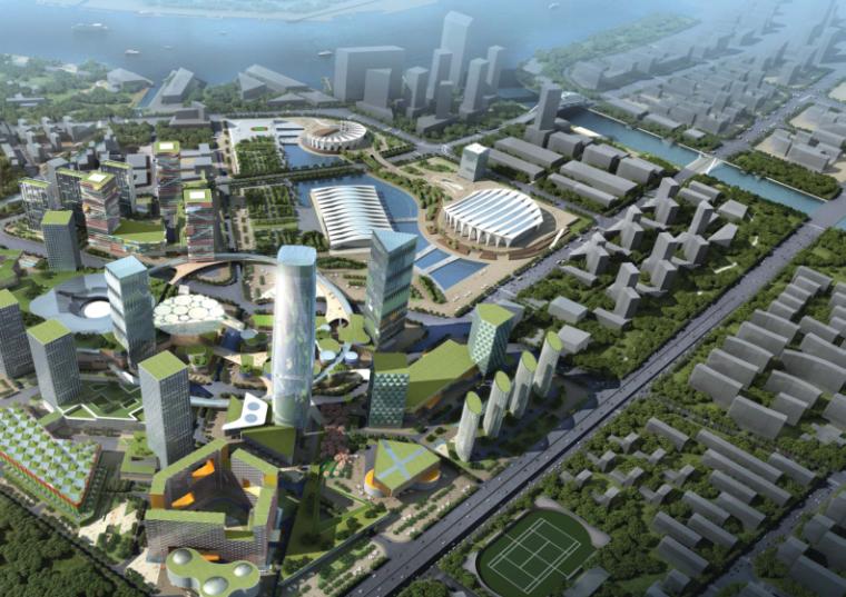 [上海]超高层多功能国际综合体建筑设计方案文本(地标)