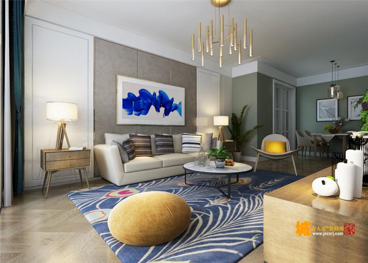 简约风格的两室两厅设计效果图