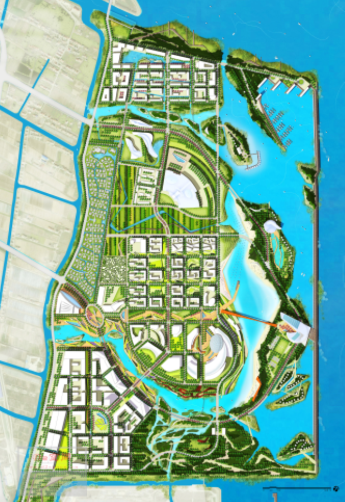 [上海]蓝色港湾旅游区概念性景观规划设计_2