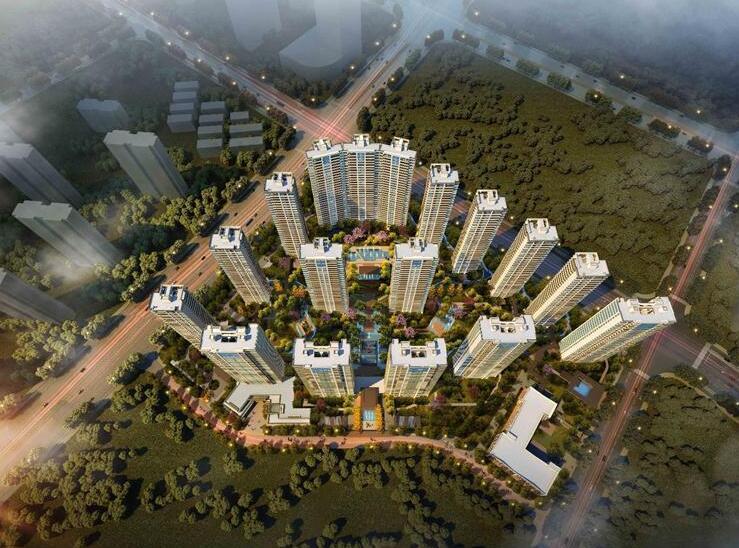 [浙江]杭州融信保利创世纪售楼部景观模型设计