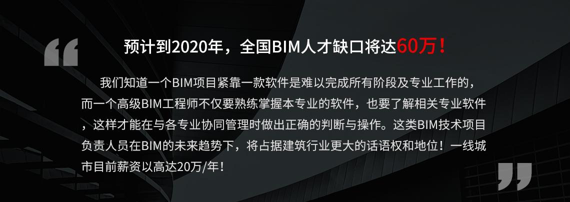 现阶段,BIM人才紧缺,全国BIM人才缺口近60W,抓紧学习BIM多软件课程,成为BIM项目负责人,做出满意的施工工艺动画,BIM成果汇报展示视频。