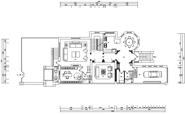 [河北]新古典风格三层别墅样板房施工图(含效果图)_1