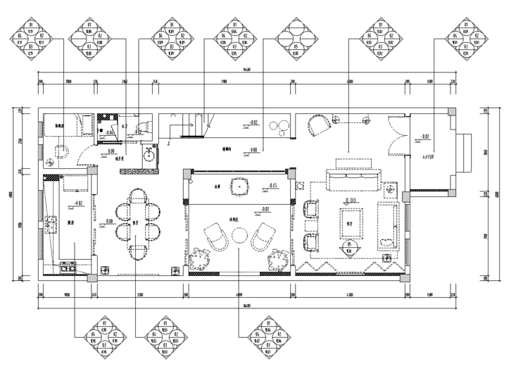 [安徽]芜湖圣地雅歌M1户型样板房施工图