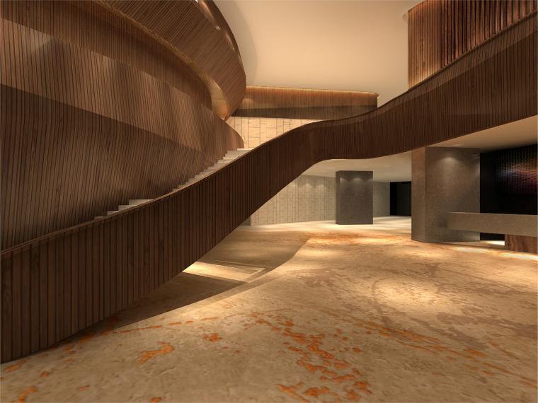 [陕西]君悦特色酒店公区设计施工图+效果图-效果图 (3)