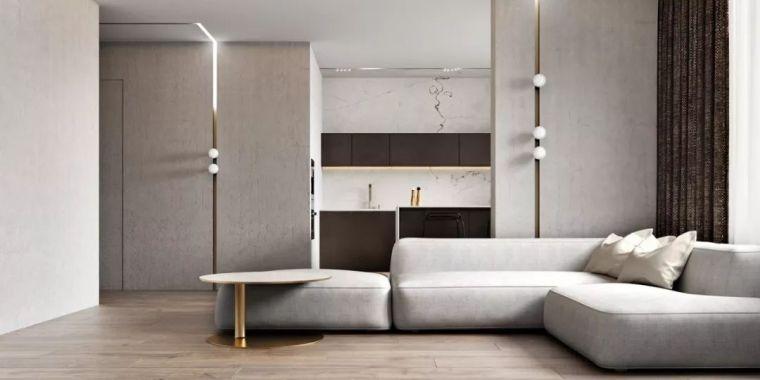 轻奢公寓,卧室里搭个地台一房变两房!