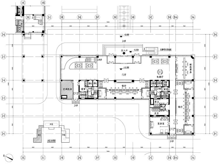 [新疆]中石油駐烏魯木齊指揮中心大樓室內裝修施工圖+設計方案+效果圖