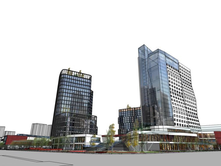 现代商业建筑SketchUp模型下载_2