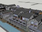沿河古建商业街方案SU模型
