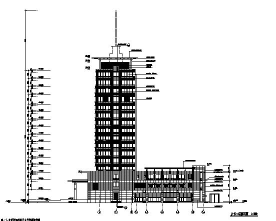 高层现代风格商业办公综合体建筑施工图