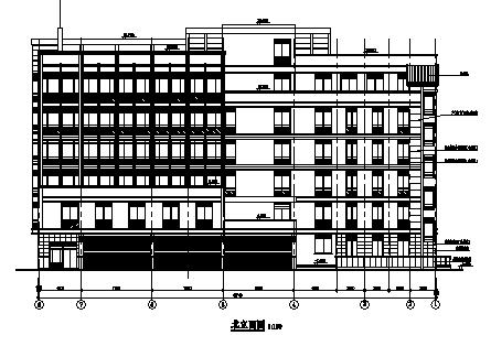 多层框剪结构办公楼施工图