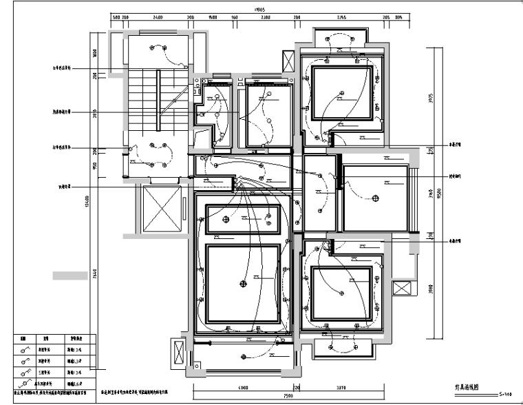 东方明珠样板间设计施工图(附效果图)