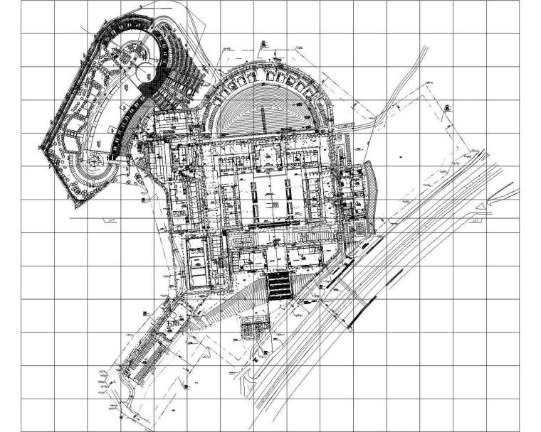 [深圳]15万平总19栋殡仪馆污水处理厂给排水消防管道施工图120张
