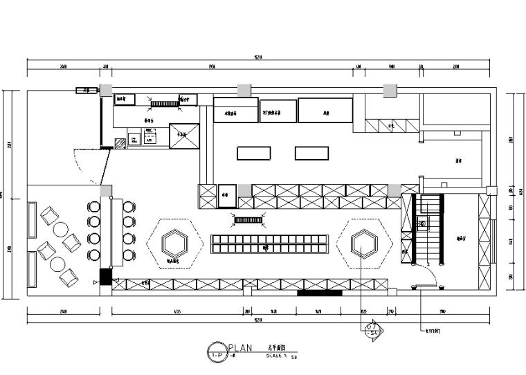 [江苏]进口食品店食字路口设计施工图(附效果图)