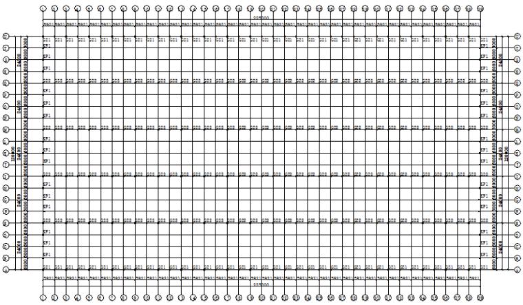 厦门纺织城单层坡双跨厂房钢结构(CAD,12张)