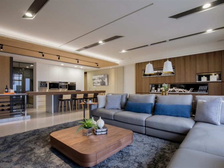 215m²简约风格的居住空间