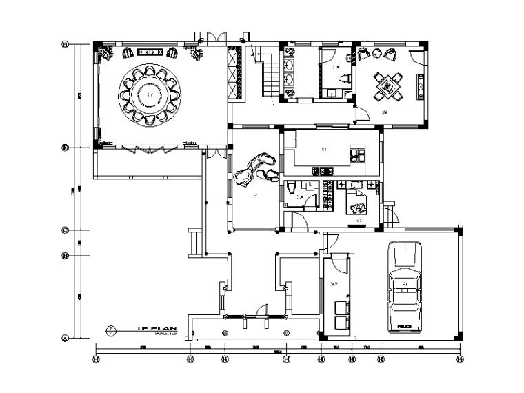 [江苏]全套别墅样板房设计CAD施工图(含效果图)