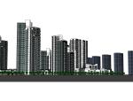 高层居住片区模型设计.skp