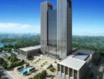 超高层现代风格办公楼建筑设计方案文本