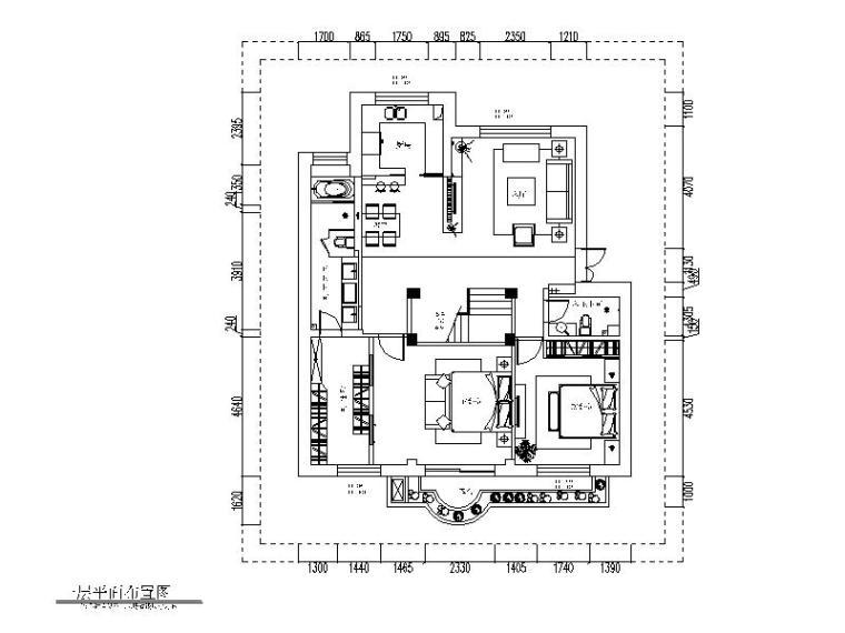 现代风格复式住宅设计CAD施工图(含效果图)