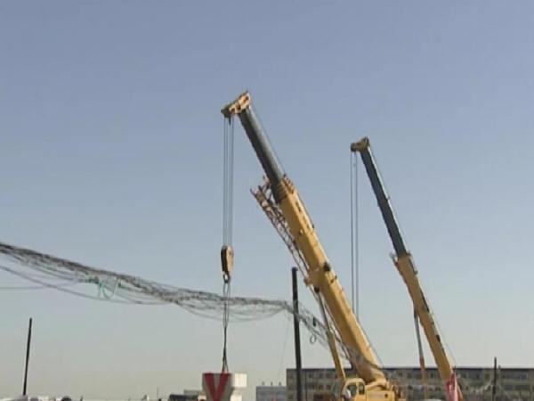 西北首座装配式桥梁试验段成功实施吊装和组装