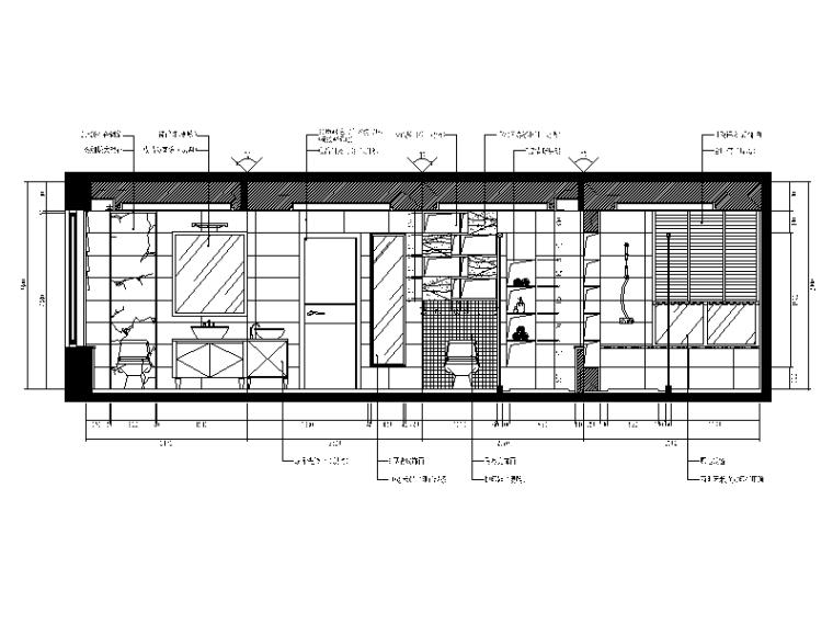 【重庆】新中式样板间设计CAD施工图(含效果图)_4