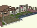 中式风格小庭院设计(SU模型)