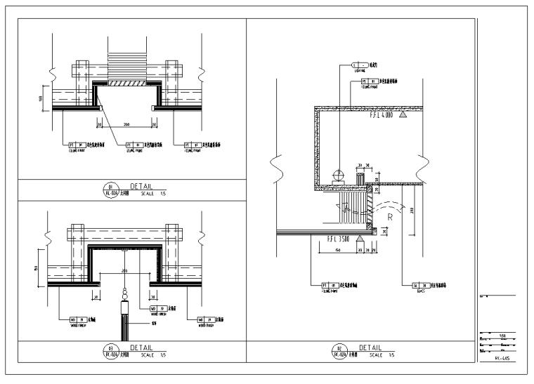 日本某大型餐厅室内装修设计整套施工图纸(45张)