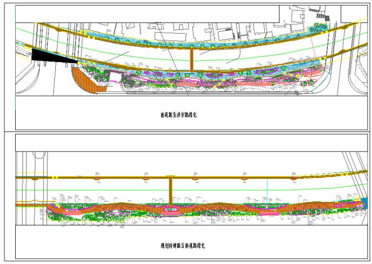 河道治理绿化图纸