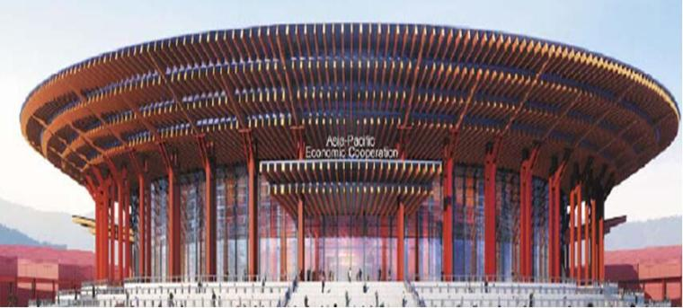 北京雁栖湖国际会展中心斗拱幕墙施工技术(申报中级职称论文)
