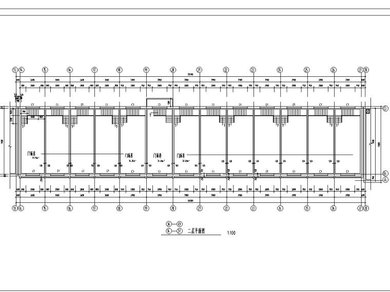 多层沿街商铺建筑设计方案施工图CAD