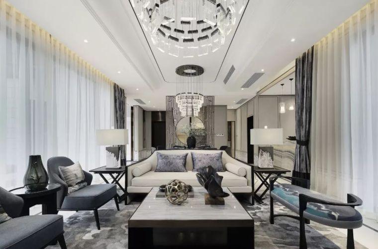 质朴材质也能构建空间气质,顶级别墅样板间设计_4