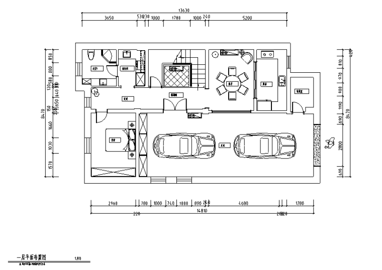 [黑龙江]新装饰主义风格400平米住宅设计施工图(附效果图)