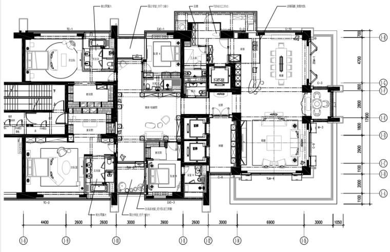 [深圳]邱德光|前海壹方中心现代中式风格住宅设计施工图+物料书+效果图_1
