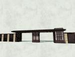 新中式大门围墙SU模型设计