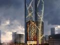 [浙江]SOM杭州卓越双子塔综合体建筑设计方案文本