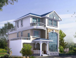 3层农村自建房别墅设计图纸带阁楼和车库(包含CAD+效果图)