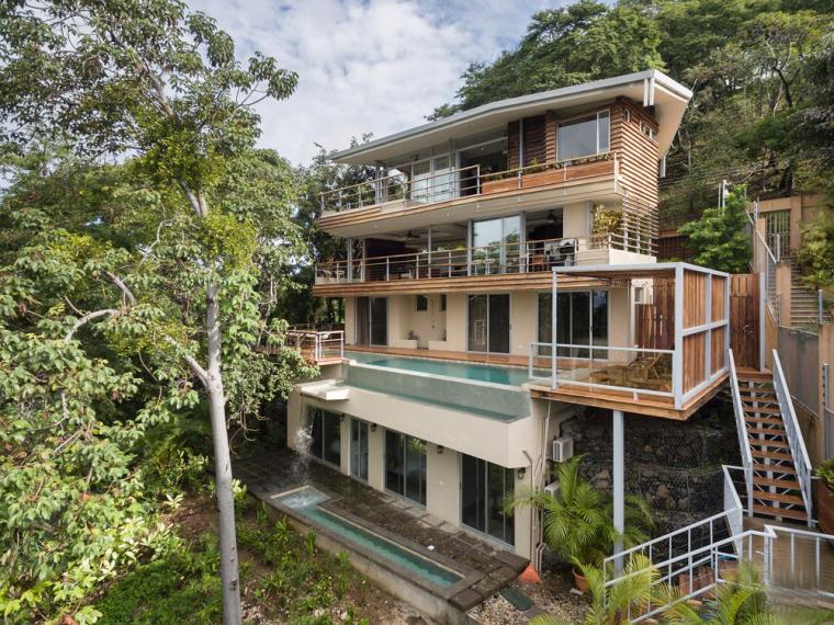 哥斯達黎加海景瀑布住宅