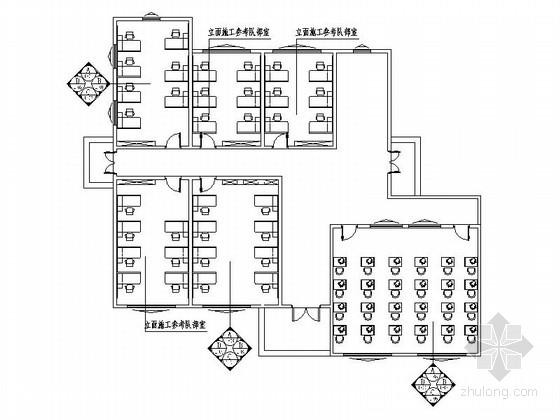 [广东]综合性门户城市学校现代图书馆CAD装修施工图