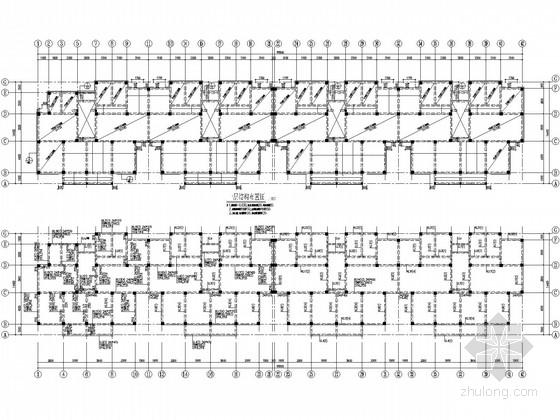 六层带闷顶住宅框架结构施工图