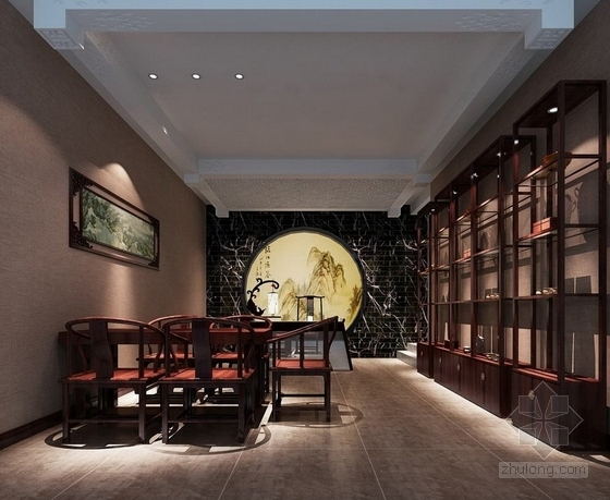 [福建]国际豪华欧式音乐会所设计施工图(含效果)茶室效果图
